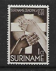 SURINAME  B16 MINT HINGED FOUNDING OF THE MORAVIAN MISSION ISSUE