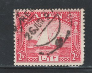 Aden 1937 Dhow 2a Scott # 4 Used