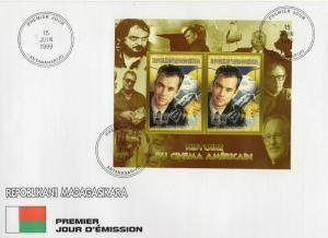 Malagasy 1999 SPACE APOLLO XIII Compound s/s Imperforated in Official FDC