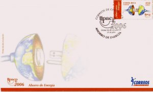 COSTA RICA UPAEP AMERICA ISSUE ENERGY CONSERVATION Sc 592 FDC 2006