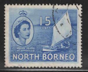 North Borneo Scott 268 Used QE2 stamp