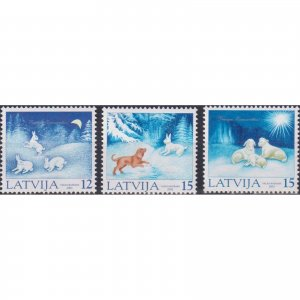 Latvia 2001 Christmas Stamps  (MNH)  - Christmas