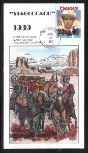 USA 2448 Stagecoach Collins First Day Cover FDC (z4)