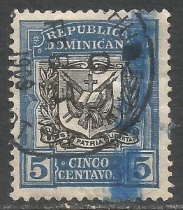DOMINICAN REPUBLIC 175 VFU ARMS I136-4