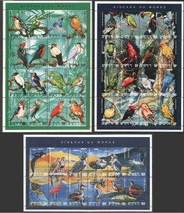 PK143 MALI FAUNA BIRDS OISEAUX DU MONDE !!! 3SH MNH STAMPS