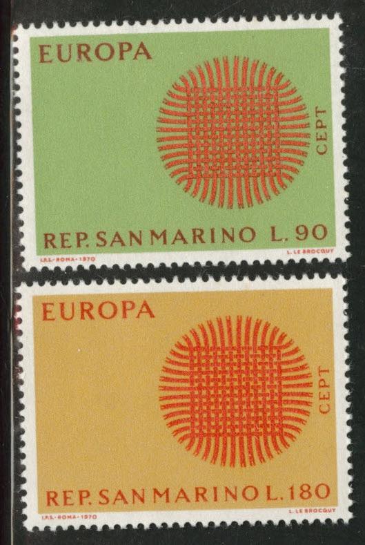 San Marino Scott 729-30 MH* 1970 Europa set
