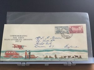 Ross Dependency 1958 Trans Antarctic Crossing   stamps cover R31147