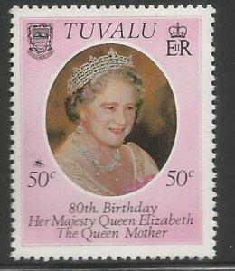 TUVALU 137  HINGED,  QEII 80TH BIRTHDAY