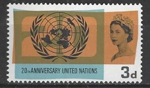 Great Britain  440  MNH  United Nations 20th Anniversary 1965