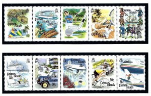 Cayman Is 666-67 MNH 1993 Tourism in strips of 5   (KA)