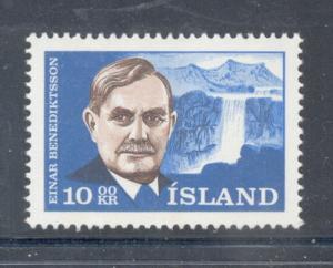Iceland Sc 377 1965 Benediktsson Poet stamp mint NH