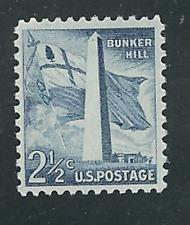SCOTT # 1034 SINGLE BUNKER HILL MINT NEVER HINGED GEM QUALITY