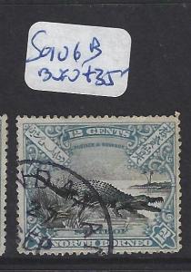 NORTH BORNEO (P0310B)  12C CROCODILE SG 106B  SANDAKAN   CDS   VFU