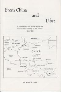 From China and Tibet, by Robson Lowe,  Commentary on 1844-65 Missionary letters.