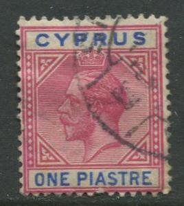 Cyprus - Scott 64 - KGV - Definitives -1912 - Used - Single 1pi Stamp