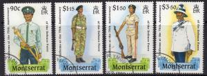 MONTSERRAT SG783/6 1989 DEFENCE FORCE FINE USED