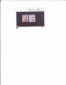 italy - ageaqn leros scott # 7,8 mint , cv $6.00 (2016)