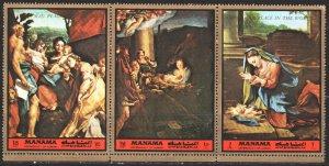 Manama. 1972. 1127-29. Painting, paintings. MNH.