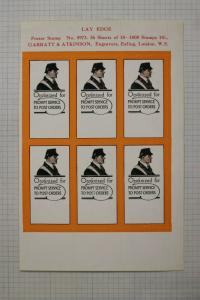 Organized Postal Service Union ad Post UK GB Garratt Atkinson Poster label DM