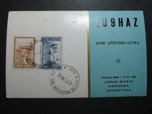 5479 Amateur Radio QSL Card Cordoba Argentina
