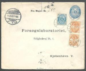 DENMARK 1903 uprated 4ore envelope undated STILLING pmk....................66248