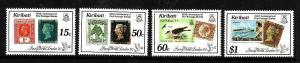 Kiribati-Sc#536-9-Unused NH set-Stamp on Stamp-Penny Black-1990-