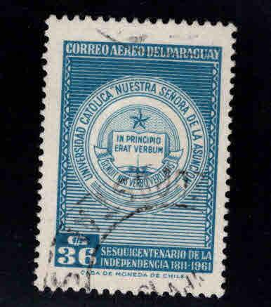 Paraguay  Scott  C296 Used airmial stamp