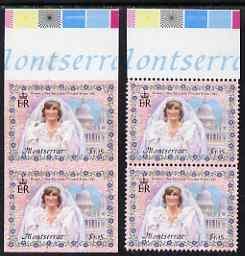 Montserrat 1998 Diana Princess of Wales $1.15 imperf pair...