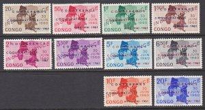 Congo Democratic Republic Sc #371-380 MNH