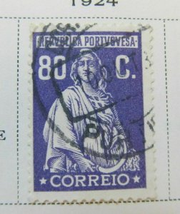 A5P43F172 Portugal 1926 80c Perf 13 1/2x14 used