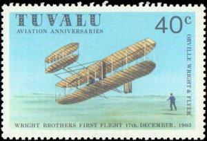 Tuvalu #142-145, Complete Set(4), 1980, Airplanes, Never Hinged