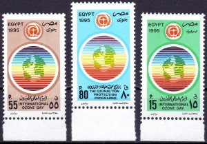 Egypt. 1995. 1321-23. Ozone Layer Protection. MNH.