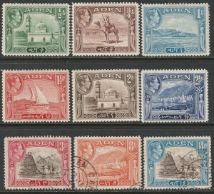 Aden 1939 Sc 16a-23A partial set mostly MH