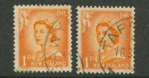 New Zealand  SG 745 shades VFU unchecked for wmk