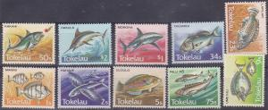 TOKELAU 1984 Fishes UHM set