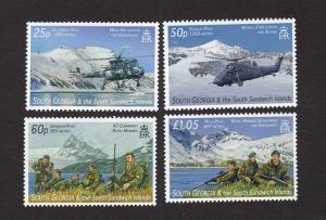 South Georgia and the Sandwich islands  #350-353 MNH 2007  Falkland war 25 years