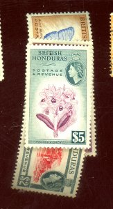 BRITISH HONDURAS #151-5 MINT VF OG LH Cat $82