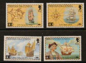 TRISTAN DA CUNHA SG522/5 1992 DISCOVERY OF AMERICA BY COLUMBUS  MNH