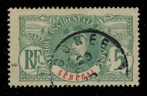 SÉNÉGAL - 1912 - CACHET À DATE DE GORÉE SUR 5c FAIDHERBE - PEU COMMUN