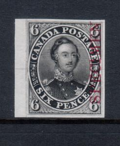 Canada #2TCix Extra Fine Proof In Black With Carmine Specimen