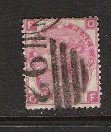GREAT BRITAIN 49 USED PLATE 10 W25 CV100 Q322