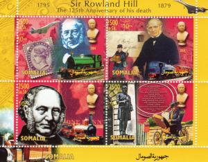 Somalia 2004 Rowland Hill/Concorde/Trains/Bicycle/Stamp on Stamp SS perforated