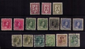 LUXEMBOURG - LOT OF SIXTEEN 1907-1928 EARLY MOSTLY USED A FEW MH F-VF