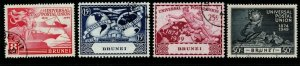 BRUNEI SG96/9 1949 U.P.U. SET USED