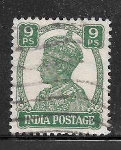 India 170: 9p George VI, used, F-VF