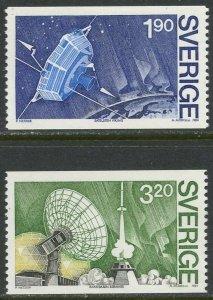 SWEDEN Sc#1514-1515 1984 Viking Satellite Complete Mint OG NH