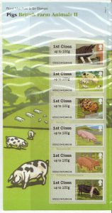 2012 Pigs British Farm Animals II (2) post & Go P&G 7 UNMOUNTED MINT