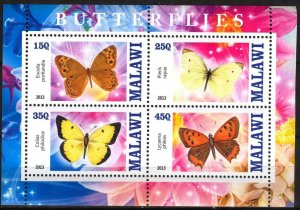 Malawi 2013 Butterflies (3) MNH Cinderella !