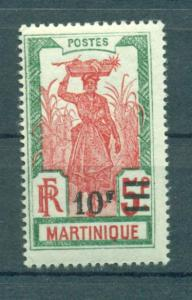 Martinique sc# 127 mh cat value $12.00