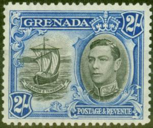 Grenada 1938 2s Black & Ultramarine SG161 Fine Lightly Mtd Mint